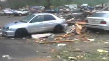 Tornado Survivor Reacts To Devastation In Brimfield Massachusetts