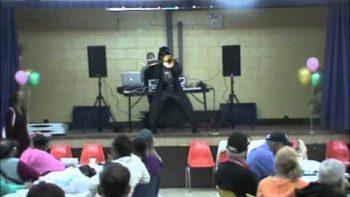 Darth Vader Salsa Dancing With Trombone
