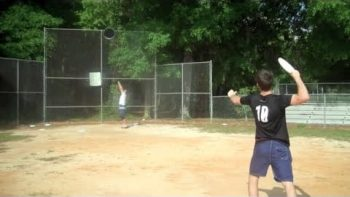 Frisbee Trick Shot Video