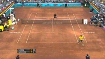 Rafael Nadal Tweener Between The Legs VS Novak Djokovic