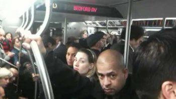 Guy FAILS USA Chant On NYC Subway Train