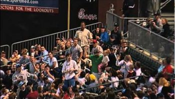 Dad Catches Foul Ball While Holding Daughter