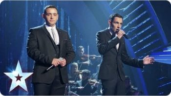 Richard And Adam Sing 'The Impossible Dream' On Britain's Got Talent, Violinist Eggs Simon