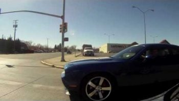 Dodge Challenger SRT8 Rear Ended Caught On Camera