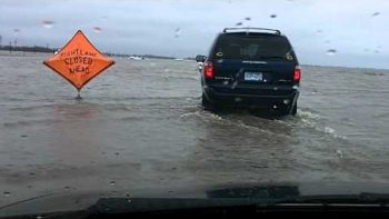 Flooding On I-29 Fargo North Dakota