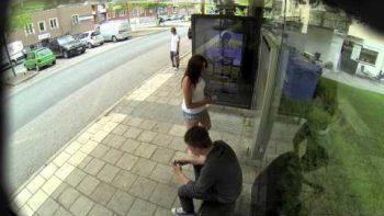 Live Photoshop Prank At Bus Stop