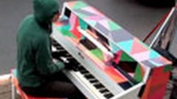 Improv Piano Guy, Merton, Plays In Montreal Streets