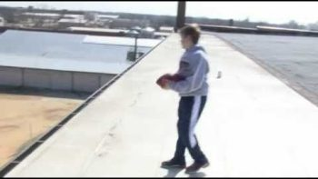 12 Year Old Trick Shot Football Video