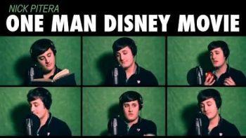 One Man Disney Movie Singing Mix Medley