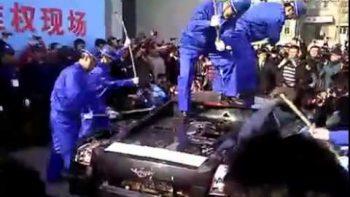 Lamborghini Gallardo Destroyed By Owner