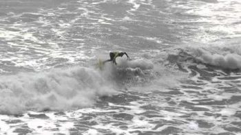 Zoltan Torkos Surfing Kickflip at Volcom Contest