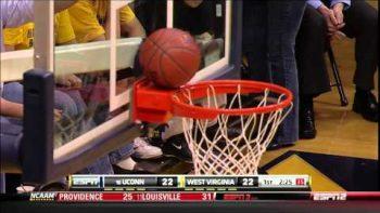 Basketball Stuck On Back Of Rim Foul Shot