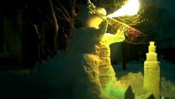 Snow Dragon Breathes Fire