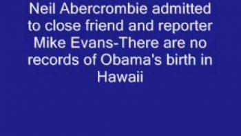 Governor Of Hawii Admits No Obama Birth Records