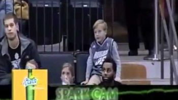 Guy Dancing Michael Jackson On Jumbo Tron At Basketball Game