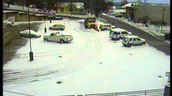 Snow Plow Flips Over
