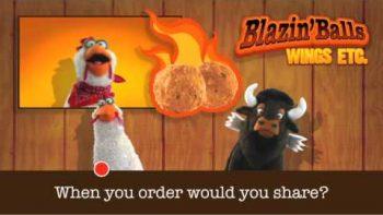 Wings Etc Blazing Balls Commercial