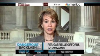 Congresswoman Gabrielle Giffords On Sarah Palin Cross Hairs Map