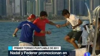 Playing Tennis On Floating Tennis Court