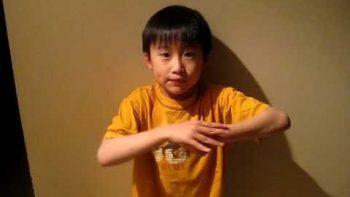 Little Asian Boy Explains Rock Paper Scissors Lizard Spock