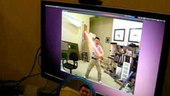 Light Saber Kinect Hack