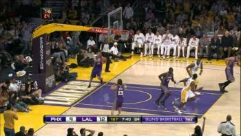 Kobe Bryant Backboard Pass To Self Trick Shot