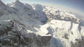 Ski Hang Gliding In Wengen Switzerland
