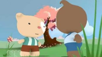 Two Bears Tea Party Conversation Animation Cartoon