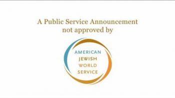 American Jewish World Service AJWS Celebrity PSA