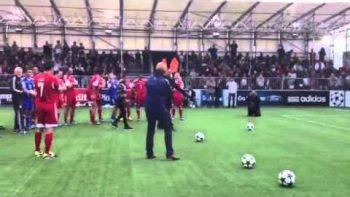 Will Smith Soccer Kick Fail At Champions Festival