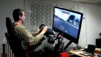 Homemade Race Car Simulator Virtual Reality Video Game