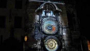 Prague Clock Tower 600th Anniversary Light Show Video Mapping