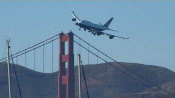 Boeing 747 Low Pass Over Golden Gate Bridge San Francisco
