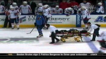 Atlanta Thrashers Ondrej Pavelec Goalie Collapses