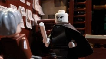 LEGO Voldemort Meets Gandalf While Wand Shopping