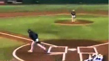 Governor Charlie Crist's Bad Fail First Pitch