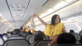 Flight Attendants Dance To Lady Gaga Just Dance During Pre Flight Instructions On Cebu Pacific Flight
