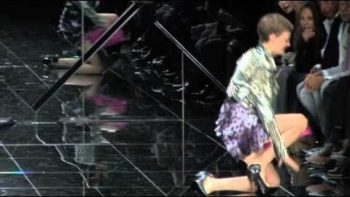 Model Falls On Catwalk