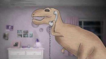 T-Rex Annoys Friend Cartoon