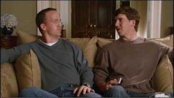 Peyton Manning VS Eli Manning Football Commercial
