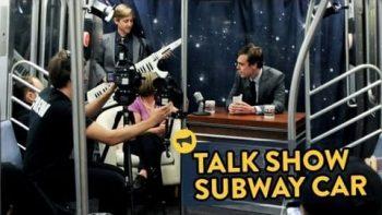 Late Night Talk Show On Subway Car Improv Prank