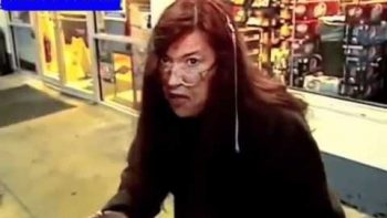 Eccentric Woman Getting Coffee At Gas Station Retells Story Of Robbery – Backin' Up Because My Daddy Taught Me Good