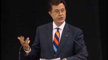 Stephen Colbert Delivers University Of Virginia Valedictory Address