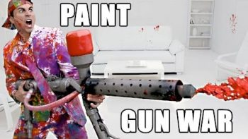 Epic Paint Super Soaker Battle