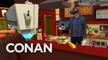Conan Visits YouTube's VR Lab