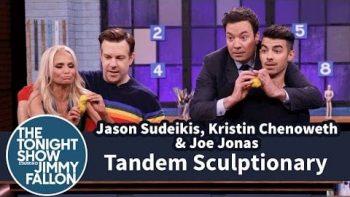 Tandem Sculptionary w Jason Sudeikis, Kristin Chenoweth & Joe Jonas