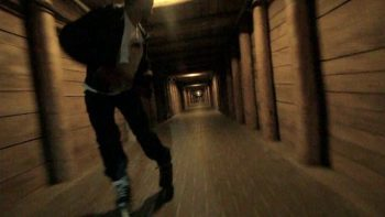 Zooming Down A Mine Shaft On Rollerblades