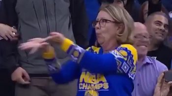 Awesome Sweater Dance By Lady At NBA Game