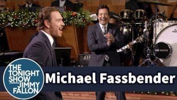 Air Guitar Battle: Michael Fassbender vs Jimmy Fallon