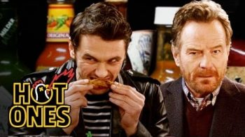 James Franco And Bryan Cranston Bond Over Spicy Wings